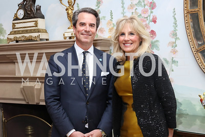 Stuart Holliday, Dr. Jill Biden. Photo by Tony Powell. To Celebrate the Power of Diplomacy. Blair House. November 16, 2016