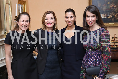 Lee Satterfield, Marie Royce, Reem Sadik, Natalie Jones. Photo by Tony Powell. To Celebrate the Power of Diplomacy. Blair House. November 16, 2016