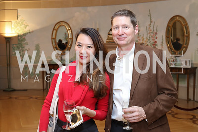 Maggie Wang, Daniel Kauffman. Photo by Tony Powell. To Celebrate the Power of Diplomacy. Blair House. November 16, 2016