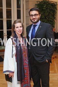 Lael Mohib and Afghanistan Amb. Hamdullah Mohib. Photo by Tony Powell. To Celebrate the Power of Diplomacy. Blair House. November 16, 2016