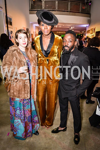 Erin Swathout, Desiree Venn Frederic, Tony Gyepi-Garbrah, Transformer Art Auction Party, 11.19.16