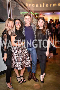 Angie Kang, Martina Fornace, Colin Shah, Caitlin Teal Price, Transformer Art Auction Party, 11.19.16