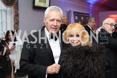 Ann Margaret, Alex Trebek. Photo by Tony Powell. USO 75th Anniversary Gala. DAR. October 20, 2016