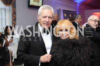 Ann Margaret, Alex Trebek. Photo by Tony Powell. USO 75th Anniversary Gala. DAR. October 20, 2016