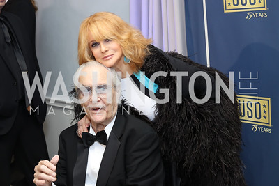 Roger Smith and Ann Margaret. Photo by Tony Powell. USO 75th Anniversary Gala. DAR. October 20, 2016
