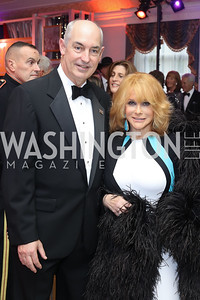 USO President and CEO Dr. JD Crouch, Ann Margaret. Photo by Tony Powell. USO 75th Anniversary Gala. DAR. October 20, 2016