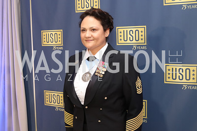 First Sergeant Melanie Scott. Photo by Tony Powell. USO 75th Anniversary Gala. DAR. October 20, 2016