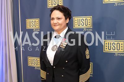 First Sergeant Melanie Scott. Photo by Tony Powell. USO 75th Anniversary Gala. DAR. October 20, 2016