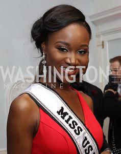 Miss USA 2016 Deshauna Barber. Photo by Tony Powell. USO 75th Anniversary Gala. DAR. October 20, 2016