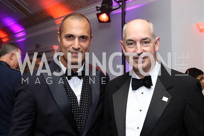 Photographer Nigel Barker, USO President and CEO Dr. JD Crouch. Photo by Tony Powell. USO 75th Anniversary Gala. DAR. October 20, 2016