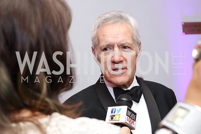 Alex Trebek. Photo by Tony Powell. USO 75th Anniversary Gala. DAR. October 20, 2016