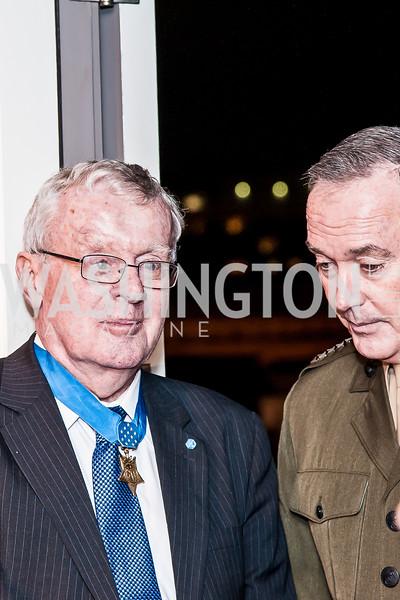 Medal of Honor Recepient Tom Kelly, Gen. Joe Dunford. Photo by Tony Powell. USO 75th Anniversary Reception. Hay Adams. February 4, 2016