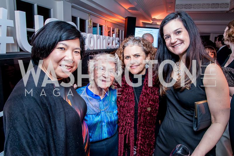 Nicole Lee, Lilah Asher, Melissa Pagano, Suzi Cabo. Photo by Tony Powell. USO 75th Anniversary Reception. Hay Adams. February 4, 2016