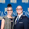 Chef Carla Hall, Matthew Lyons. Photo by Tony Powell. USO 75th Anniversary Reception. Hay Adams. February 4, 2016