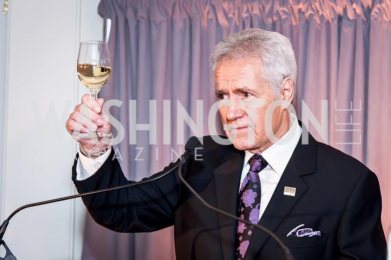 Jeopardy Host Alex Trebek. Photo by Tony Powell. USO 75th Anniversary Reception. Hay Adams. February 4, 2016