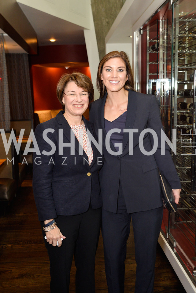 Amy Klobuchar, Hope Solo