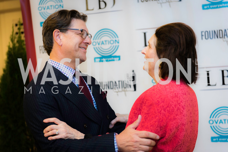 Lyndon Boozer, Lynda Bird- Johnson Robb, Private Screening of LBJ, The National Archives, November 14, 2016, photo by Ben Droz