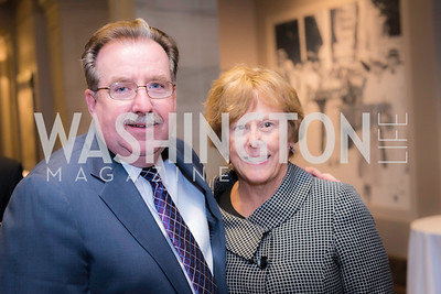 John Davey, Andrea Davey, Private Screening of LBJ, The National Archives, November 14, 2016, photo by Ben Droz