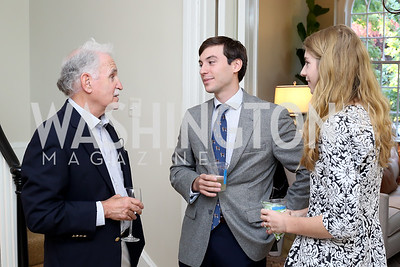 "Michael Sussman, Sebastian and Sophie Langenberg. Photo by Tony Powell. Vicky Moon ""Equal Parts"" Book Party. September 8, 2016"