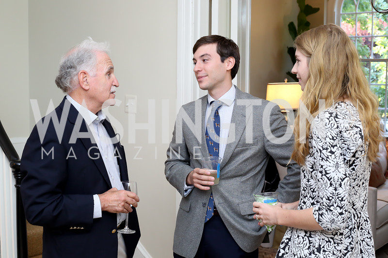 """Michael Sussman, Sebastian and Sophie Langenberg. Photo by Tony Powell. Vicky Moon """"Equal Parts"""" Book Party. September 8, 2016"""