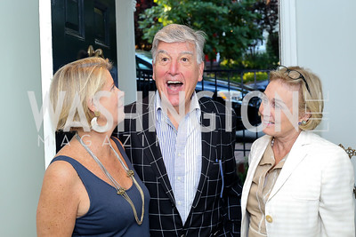 "Martha Chapman, Frank Randolph, Ellen Morrell. Photo by Tony Powell. Vicky Moon ""Equal Parts"" Book Party. September 8, 2016"