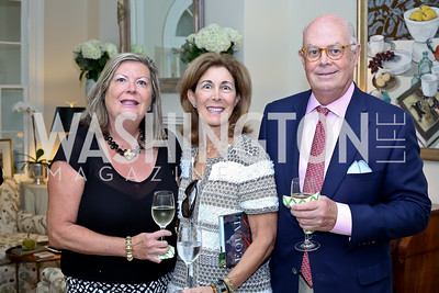 """Mary Sterling, Barbara and Wesley Price. Photo by Tony Powell. Vicky Moon """"Equal Parts"""" Book Party. September 8, 2016"""