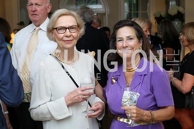 """Sara Mashek, Sharon Lockwood. Photo by Tony Powell. Vicky Moon """"Equal Parts"""" Book Party. September 8, 2016"""