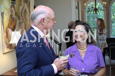 """Wesley Price, Sharon Lockwood. Photo by Tony Powell. Vicky Moon """"Equal Parts"""" Book Party. September 8, 2016"""