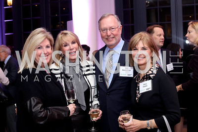 Sherrie Beckstead, Barbara McDuffie, Sid Beckstead, Alice Haase. Photo by Tony Powell. WE Tech Launch Party. Halcyon House. November 15, 2016