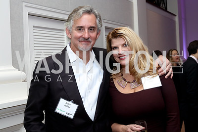 Scott Miller, Sharon Virts. Photo by Tony Powell. WE Tech Launch Party. Halcyon House. November 15, 2016