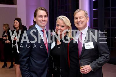Hunter McFadden, Lyn McFadden and Mark McFadden. Photo by Tony Powell. WE Tech Launch Party. Halcyon House. November 15, 2016