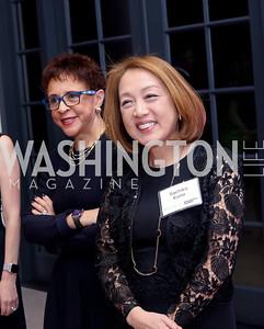 Sheila Johnson, Sachiko Kuno. Photo by Tony Powell. WE Tech Launch Party. Halcyon House. November 15, 2016