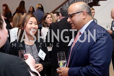 Kei Tolliver, Dave Menachery. Photo by Tony Powell. WE Tech Launch Party. Halcyon House. November 15, 2016