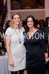 Katharine Weymouth, Rebecca Fishman. Photo by Tony Powell. WE Tech Launch Party. Halcyon House. November 15, 2016