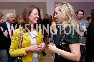 Erin Hogan, Karen Wawrzaszek. Photo by Tony Powell. WE Tech Launch Party. Halcyon House. November 15, 2016
