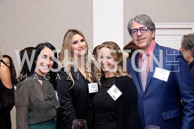 Catherine Trifiletti, Virginia Coyne, Nancy Reynolds Bagley and Soroush Richard Shehabi. Photo by Tony Powell. WE Tech Launch Party. Halcyon House. November 15, 2016