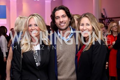 Kerry Blair, Josh Bernstein, Claudia Helmig. Photo by Tony Powell. WE Tech Launch Party. Halcyon House. November 15, 2016