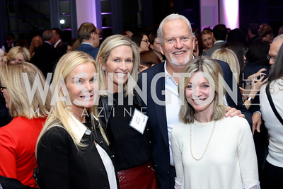 Susanna Quinn, Laura Evans, Jack Davies and Kay Kendall. Photo by Tony Powell. WE Tech Launch Party. Halcyon House. November 15, 2016