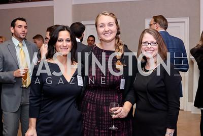 Rebecca Fishman, Kathleen O'Keefe, Beth Maloney. Photo by Tony Powell. WE Tech Launch Party. Halcyon House. November 15, 2016