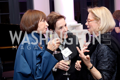 Patty Abramson, Kathy Wiseman, Mary Kopper. Photo by Tony Powell. WE Tech Launch Party. Halcyon House. November 15, 2016