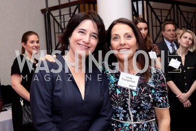Karen Schaufeld, Linda Youngentob. Photo by Tony Powell. WE Tech Launch Party. Halcyon House. November 15, 2016