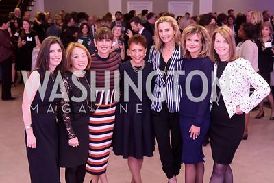 Jenny Abramson, Sachiko Kuno, Michelle Freeman, Sheila Johnson, Ami Aronson, Gail MacKinnon, Carol Melton. Photo by Tony Powell. WE Tech Launch Party. Halcyon House. November 15, 2016
