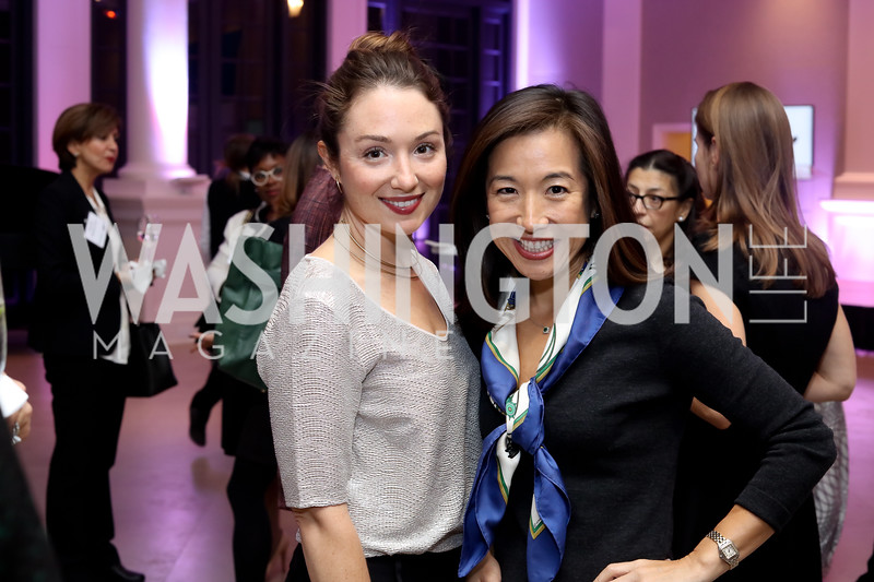 Meredith Balenske, Sarah Lee Park. Photo by Tony Powell. WE Tech Launch Party. Halcyon House. November 15, 2016