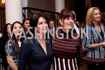 Karen Schaufeld, Michelle Freeman. Photo by Tony Powell. WE Tech Launch Party. Halcyon House. November 15, 2016