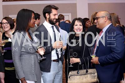 Mariama Kabia, Ryan Ross, Liz Sara, Dave Menachery. Photo by Tony Powell. WE Tech Launch Party. Halcyon House. November 15, 2016