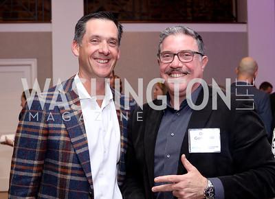 Lou Aronson, David Gorodetski. Photo by Tony Powell. WE Tech Launch Party. Halcyon House. November 15, 2016