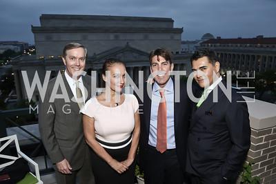 Steve Scully, Laura Haim, Jon Decker, Xavier Equihua. Photo by Tony Powell. 2016 WHC Press for the Press Party. April 27, 2016