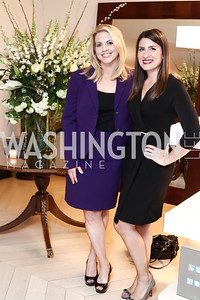 CCTV America's Jessica Stone, Gray TV's Jacqueline Policastro. Photo by Tony Powell. 2016 WHC Press for the Press Party. April 27, 2016