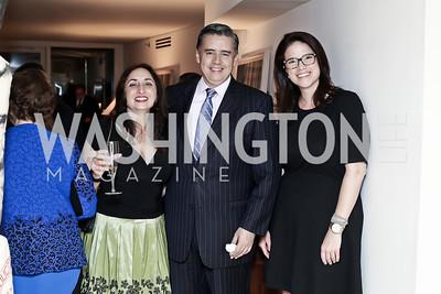 Rosemary Guerguerian, Juan Carlos Lopez, Melissa Shuffield. Photo by Tony Powell. 2016 WHC Press for the Press Party. April 27, 2016