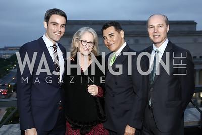 Devin Dwyer, Alma Paty, Xavier Equihua, John Paty. Photo by Tony Powell. 2016 WHC Press for the Press Party. April 27, 2016
